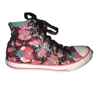 Converse Neon Rose All Star High Top Sneakers 5/7